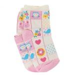Meia Lupo Infantil Flores Animais 02680-190 | Betisa