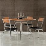 Mesa 1557 para 4 Lugares 0,90m + 4 Cadeiras 1721 Napa Preto