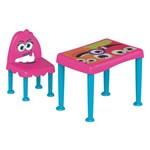 Mesa/cadeira Monster Rosa/azul