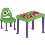 Mesa com Cadeira Monster Verde e Lilás Tramontina