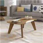 Mesa de Centro Artely Nicole Retangular Pinho/off White