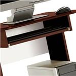 Mesa de Computador com 1 Compartimento e Corrediças Metálicas para Teclado - MC 8009 - Tabaco - Art In Móveis