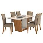 Mesa de Jantar Apogeu 6 Cadeiras Off White - Rovere Soft