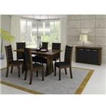 Mesa de Jantar com 6 Cadeiras Madesa Premium 4232