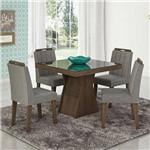 Mesa de Jantar Olivia 100x100 Cm C/4 Cadeiras Elisa - Cimol
