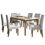 Mesa de Jantar Rouge com 6 Cadeiras - Demolição/Off White