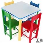 Mesa Infantil com 4 Cadeiras Coloridas 5017 Carlu