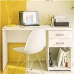 Mesa para Computador 2 Gavetas Afrodite 1,20m Branco Bp - Politorno