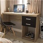 Mesa para Computador 2 Gavetas Afrodite 1,20m Carvalho/Preto Ff/Bp - Politorno