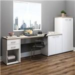 Mesa para Computador Toq Grig/Branco - Artany Móveis