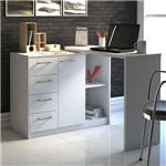 Mesa para Escritório Logam 1 Porta 4 Gavetas Artany