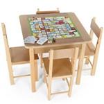 Mesa para Recreação em Mdf com 5 Jogos Educativos 5002 Carlu