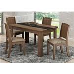 Mesa para Sala de Jantar com 4 Cadeiras Bárbara Marrocos/café - Cimol Móveis