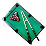 Mesa Sinuca Snooker Portátil Tacos e Bolas 31x51cm