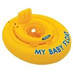 Meu Primeiro Bote Inflável Amarelo Intex