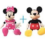 Mickey e Minnie Rosa Pelúcia (kit) - 70cm Original Disney