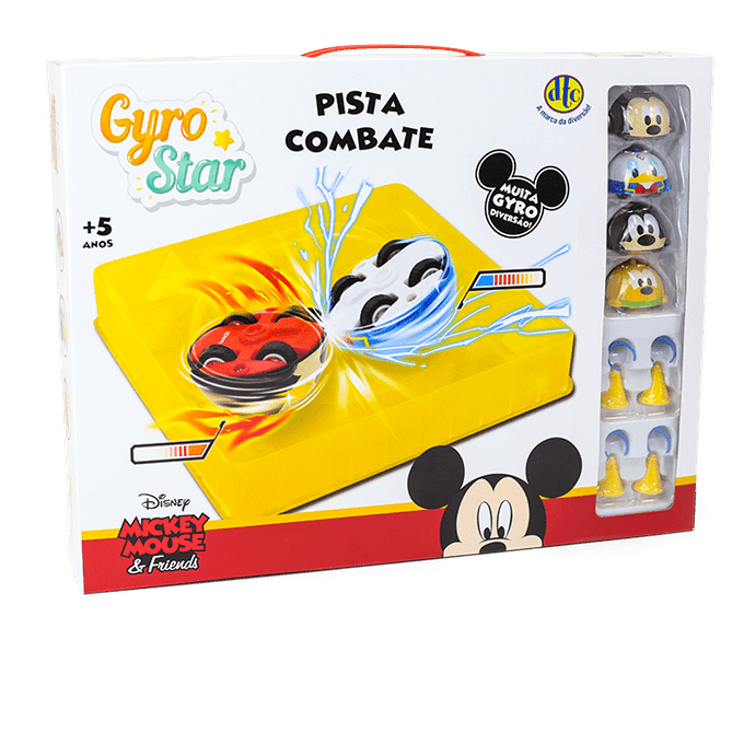Mickey Mouse & Friends - Pista Combate Gyro Star - Dtc - DTC