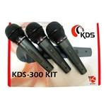 Microfone com Fio Kadosh Kds-300 Kit com 3 Pcs