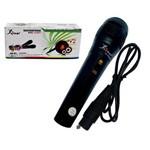 Microfone com Fio Preto Knup Kp-M0001