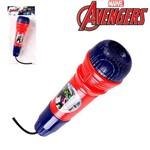 Microfone Infantil com Eco Divertido Vingadores Avengers na Solapa