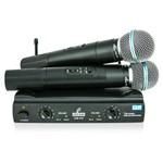 Microfone Sem Fio Arcano Duplo Uhf 2 Body Am-ch