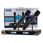 Microfone Sem Fio Uhf com Base Receptora Lcd Knup Kp-u914