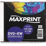 Mídia Regravável Maxprint 4.7Gb Dvd+Rw4X