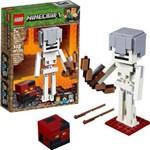 Minecraft Bigfig Esqueleto com Cubo de Magma