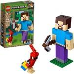 Minecraft Bigfig Steve com Papagaio