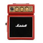 Mini Amplificador de Guitarra Marshall MS-2R 127V Vermelho Portátil