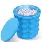 Mini Balde Forma de Gelo Silicone Ice Cube Maker Genie