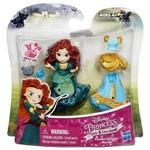 Mini Boneca Princesa Disney Ruiva Merida e Vestido - Hasbro