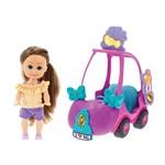 Mini Boneca - Sparkle Girlz - Mini Carro Sparkles - Dtc