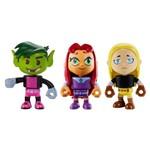 Mini Bonecos - DC Comics - Teen Titans Go! - Mutano, Terra e Estelar