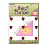 Mini Botão Patch Coração 0028 - 9 Unid