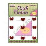 Mini Botão Patch Laço Vermelho 0038 - 9 Unid