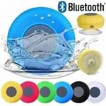 Mini Caixinha Som Bluetooth Portátil Prova de Água Ventosa Cor Verde