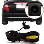 Mini Câmera de Ré Kx3 Colorida Universal 12v Preta a Prova D'agua com Espelhamento