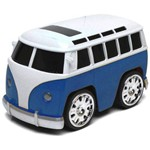 Mini Car Classic Controle Remoto Kombi Azul - Dtc