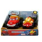 Mini Carros Chuck And Friends Chuck e Iron Man - Edimagic