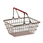 Mini Cesta Supermercado Decorativo Vermelho
