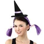 Mini Chapéu Bruxa com Tranças U