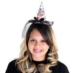 Mini Chapéu Estampado com Véu