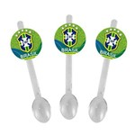 Mini Colher para Brigadeiro Brasil Cbf 10 Unds