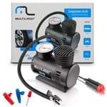 Mini Compressor de Ar Automotivo Portátil - Multilaser - 12v com Manômetro
