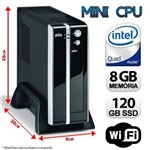 Mini Cpu Intel Quad Core, 8gb Ram, Ssd 120, Wifi