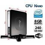 Mini Cpu Nano Pc Intel Dual Core, 8gb Ram, Ssd 240, Hdmi e Wifi
