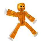 Mini Figura Articulada - 10 Cm - Stikbot - Laranja - Estrela
