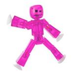 Mini Figura Articulada - 10 Cm - Stikbot - Pink - Estrela