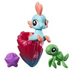 Mini Figura My Little Pony com Acessórios - Mini Pônei Sereia - Bubble Splash - Hasbro